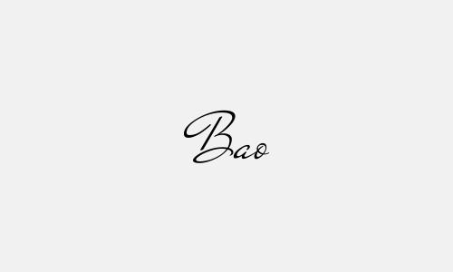 Kiểu chữ ký tên Bảo đẹp nhất