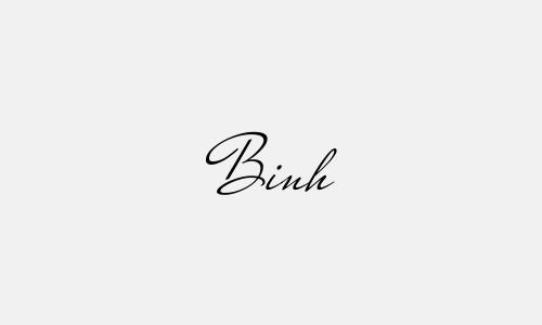 Kiểu chữ ký tên Bình đẹp nhất