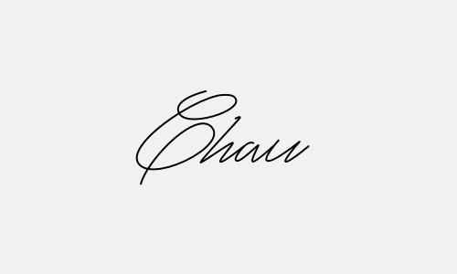 Kiểu chữ ký tên Châu đẹp nhất