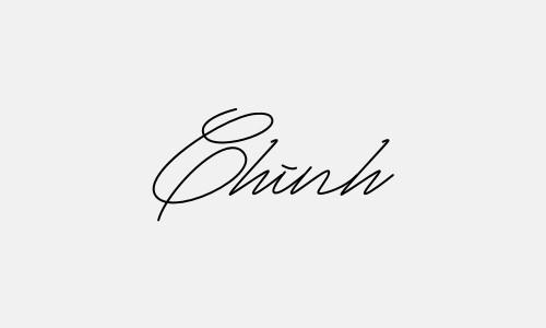 Kiểu chữ ký tên Chinh đẹp nhất
