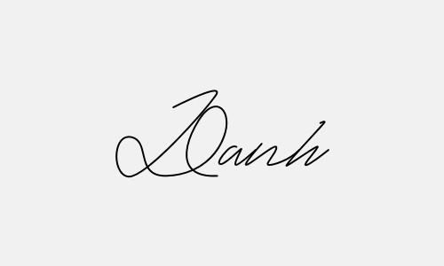Kiểu chữ ký tên Danh đẹp nhất