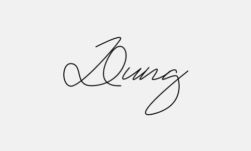 Kiểu chữ ký tên Dũng đẹp nhất