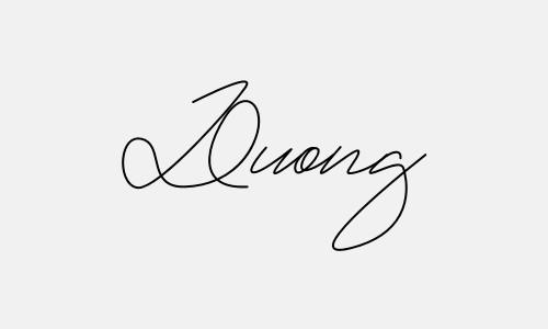Kiểu chữ ký tên Dương đẹp nhất