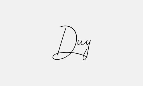 Kiểu chữ ký tên Duy đẹp nhất