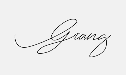Kiểu chữ ký tên Giang đẹp nhất