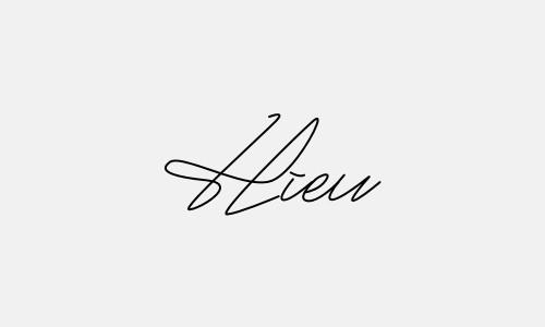 Kiểu chữ ký tên Hiếu đẹp nhất