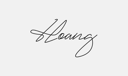 Kiểu chữ ký tên Hoàng đẹp nhất