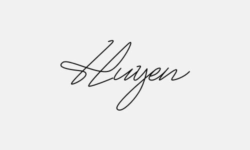 Kiểu chữ ký tên Huyền đẹp nhất