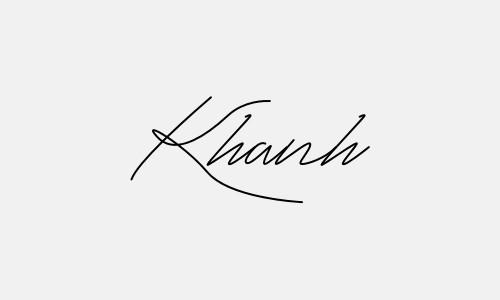 Kiểu chữ ký tên Khánh đẹp nhất