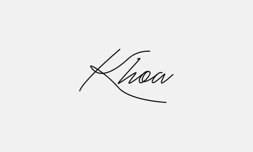 Kiểu chữ ký tên Khoa đẹp nhất