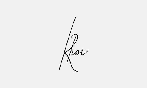 Kiểu chữ ký tên Khôi đẹp nhất