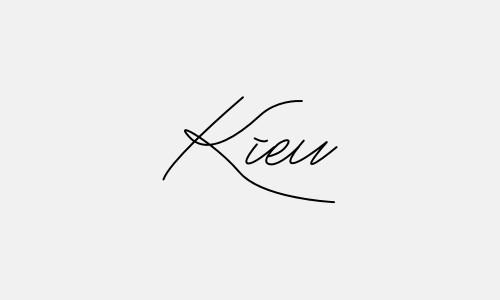 Kiểu chữ ký tên Kiều đẹp nhất