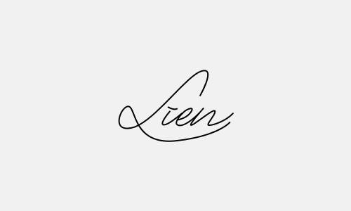 Kiểu chữ ký tên Liên đẹp nhất