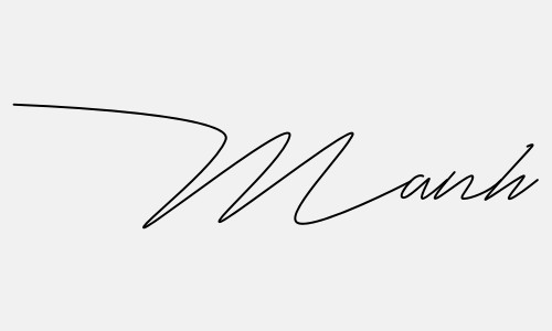 Kiểu chữ ký tên Mạnh đẹp nhất