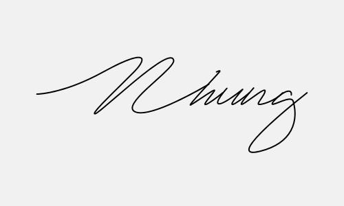 Kiểu chữ ký tên Nhung đẹp nhất