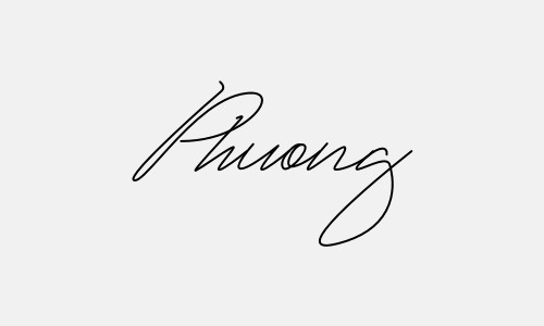 Kiểu chữ ký tên Phương đẹp nhất