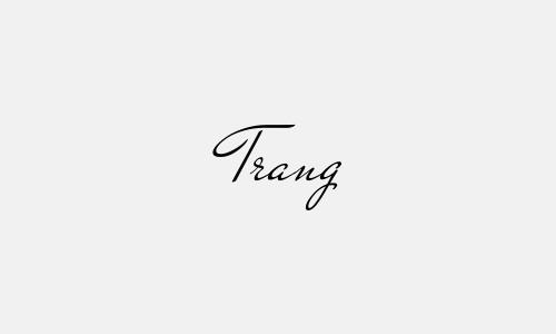 Kiểu chữ ký tên Trang đẹp nhất