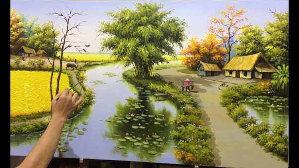 Vẽ tranh phong cảnh bằng màu acrylic