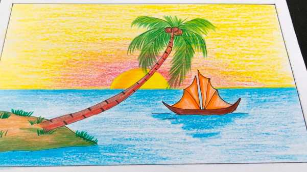 Cách vẽ tranh phong cảnh biển đảo đẹp