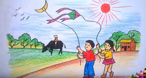 Bức tranh phong cảnh dành cho lớp 1