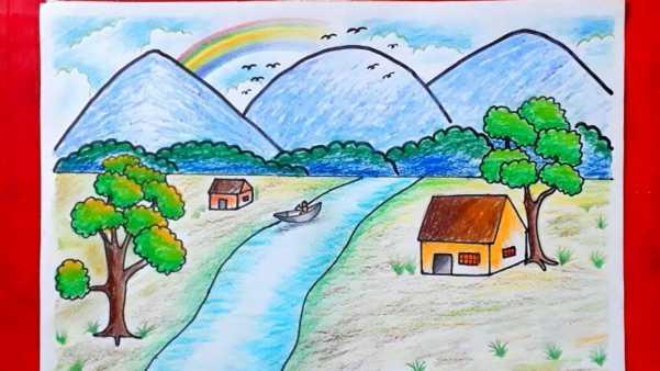 Bức tranh phong cảnh đẹp dành cho lớp 2