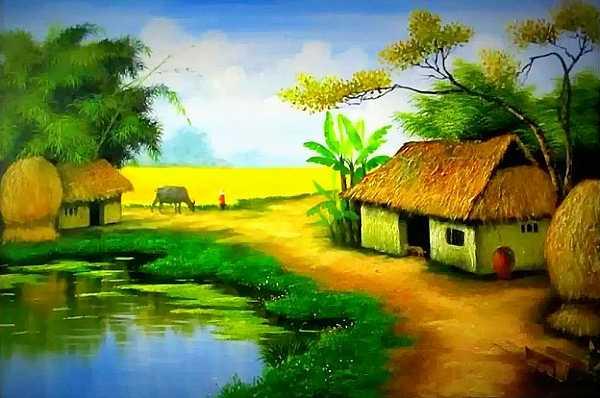Bức tranh phong cảnh đẹp dành cho lớp 3
