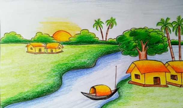 Bức tranh phong cảnh đẹp dành cho lớp 4