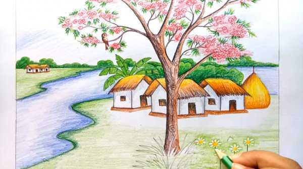 Vẽ bức tranh phong cảnh đẹp dành cho lớp 5