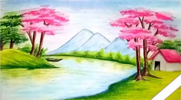 Tranh phong cảnh thiên nhiên quê hương