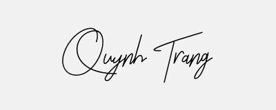 Gợi ý chữ ký tên Quỳnh Trang