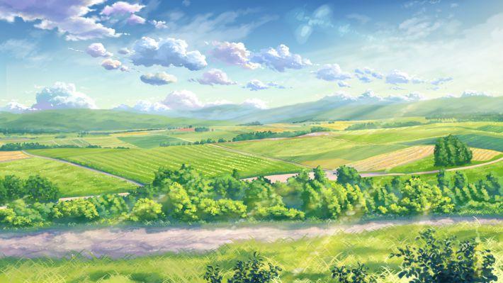 Ngắm nhìn hình nền anime powerpoint