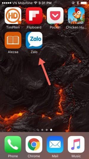 Đăng nhập Zalo trên điện thoại