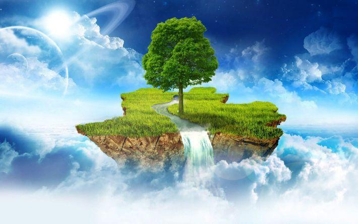 Mẫu hình nền 3d về cây xanh