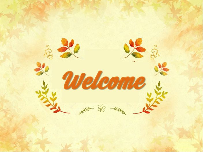 Powerpoint welcome slide template