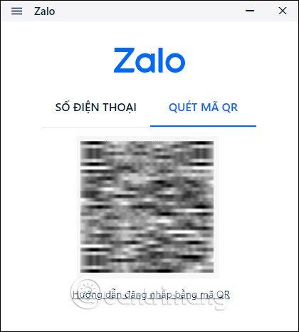 Giao diện mã QR của Zalo