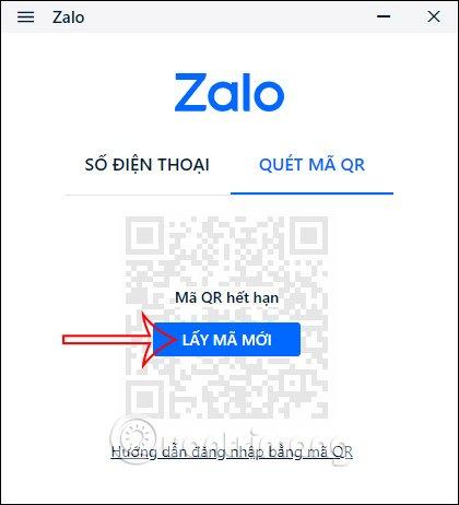 Lấy mã mới để hiển thị mã QR mới