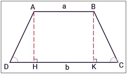 Hình có hai góc kề một đáy bằng nhau