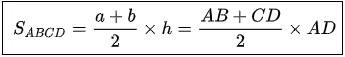 Là cạnh bên vuông góc với hai đáy cũng chính là chiều cao h của hình thang