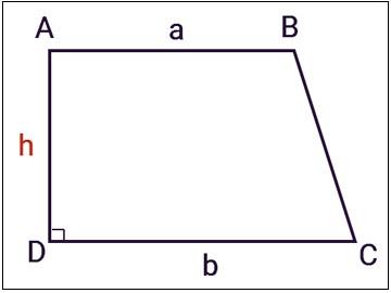 Công thức tính diện tích hình thang vuông