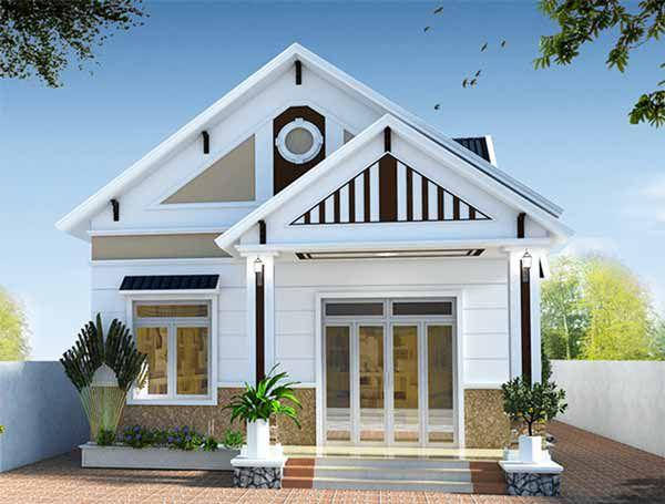 Thiết kế nhà 1 tầng có 3 phòng ngủ mái thái - Hình 2