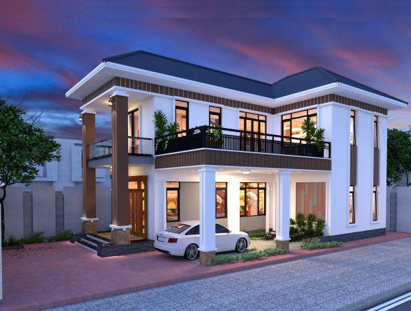 Ưu điểm của thiết kế nhà 2 tầng 9x12m