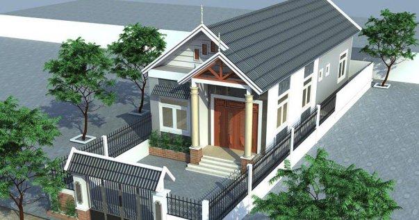 Mẫu nhà cấp 4 mái thái đẹp diện tích 4x20m - Hình 3