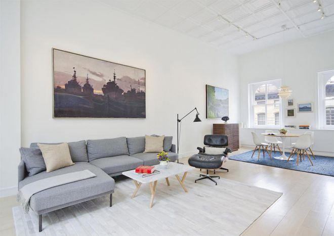 Sử dụng nội thất đơn giản cho phòng khách chung cư