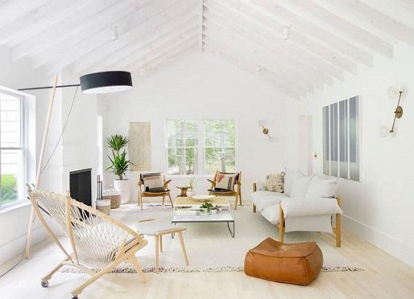 Bố trí không gian phòng khách tạo sự gọn gàng và tiện nghi