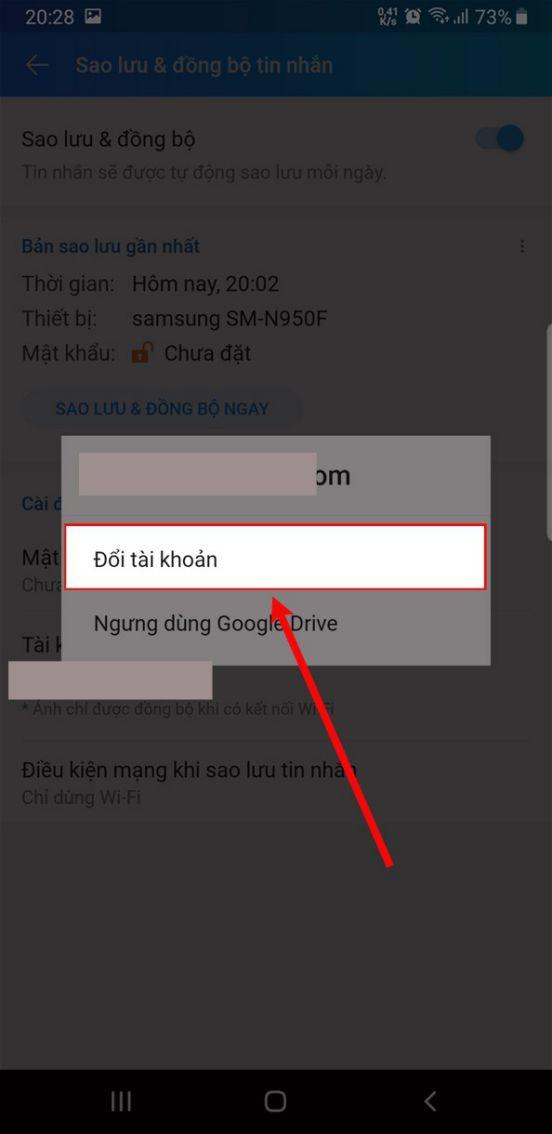 Chọn tài khoản gmail hoặc thêm tài khoản mới.