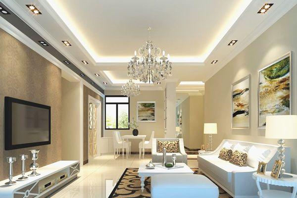 Mẫu trần thạch cao phòng khách nhà biệt thự