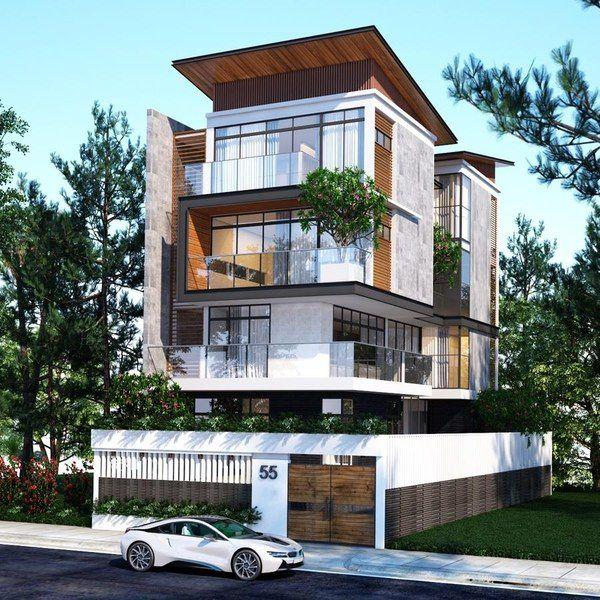Những mẫu biệt thự 4 tầng đẹp
