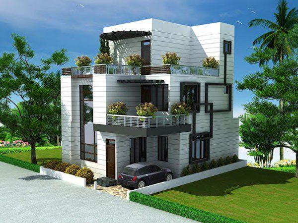 Chiêm ngưỡng mẫu nhà 3 tầng phong cách hiện đại