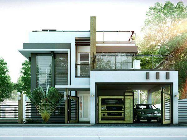 Hình ảnh thiết kế nhà 3 tầng có gara