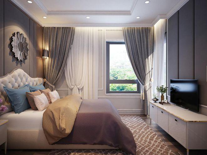 Phòng ngủ với diện tích không quá lớn nhưng nội thất được sắp xếp gọn gàng